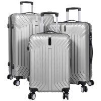 ABS-Kofferset 3tlg Palma silber