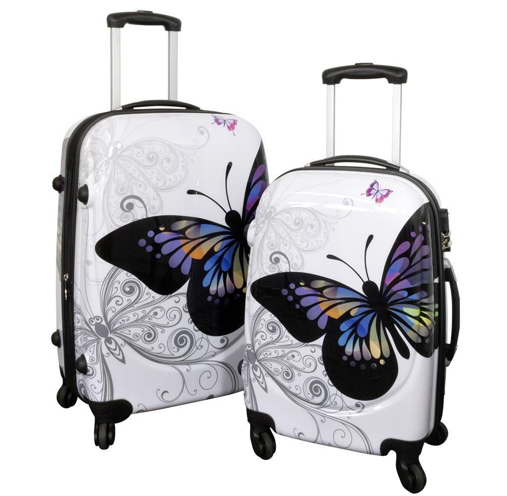 Polycarbonat-Kofferset 2tlg Butterfly
