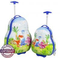 Polycarbonat Kinderkofferset 2tlg Dinos