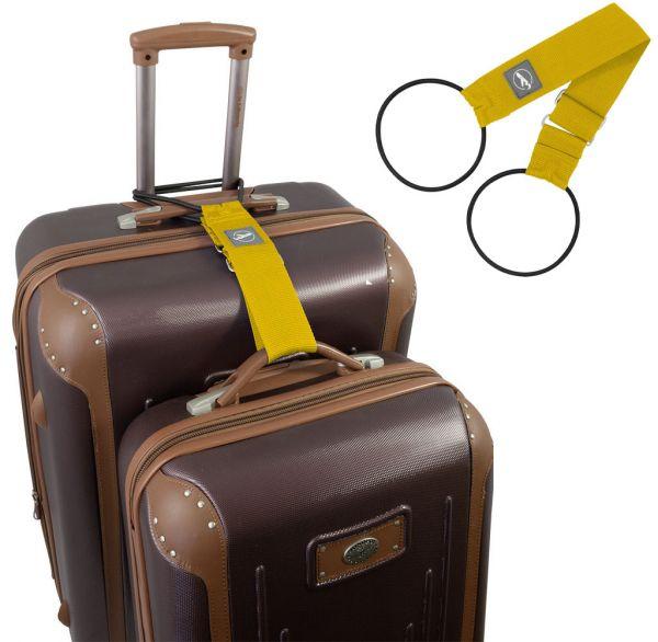 Trageschlaufe für Koffer und Taschen gelb