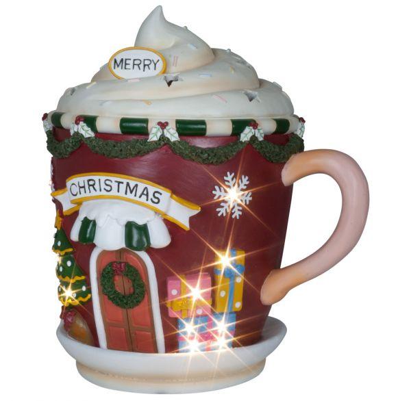 LED Weihnachtsdeko Tasse 31cm