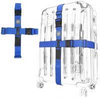 Kreuz-Koffergurt 2-Wege blau