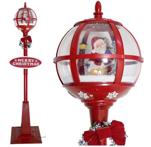 Schneiende LED Laterne 175cm Motiv Santa
