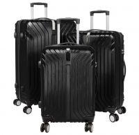 ABS-Kofferset 3tlg Palma schwarz