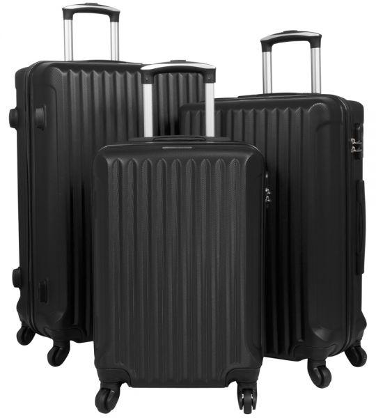 ABS Kofferset 3tlg schwarz