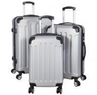 ABS-Kofferset 3tlg Avalon II pastell-silbergrau