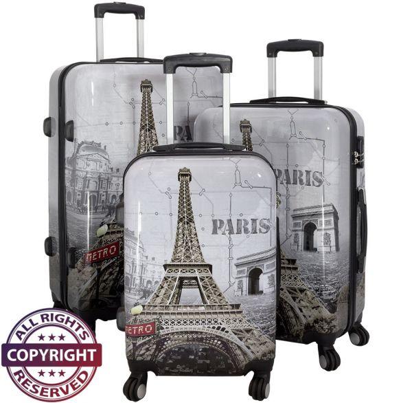 Polycarbonat Kofferset 3tlg Paris II