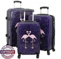 Polycarbonat Kofferset 3tlg Flamingo