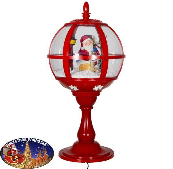 Schneiende LED Tischlaterne 60cm Motiv Santa