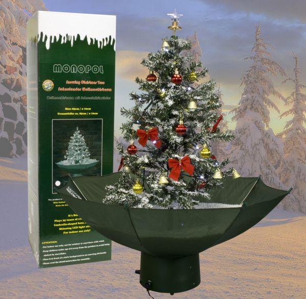 Schneiender Weihnachtsbaum 75cm grün