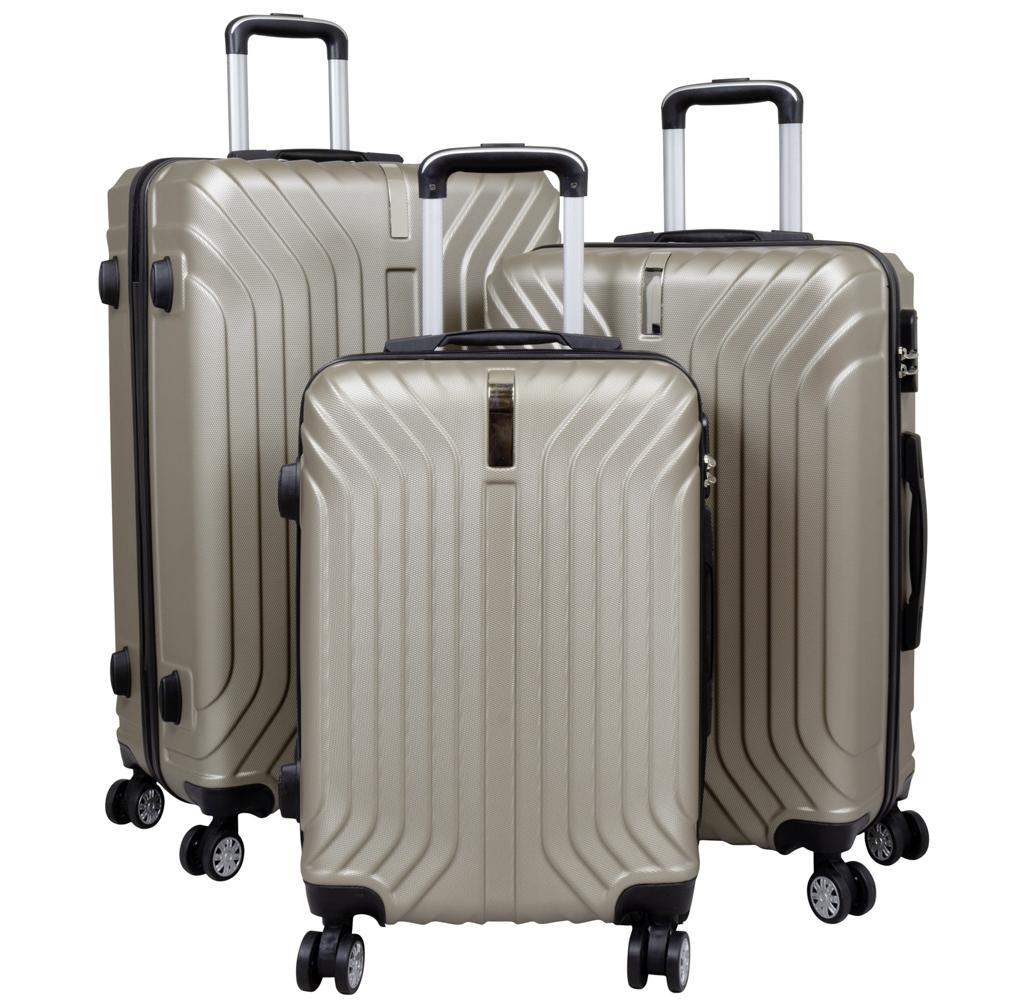 ABS-Kofferset 3tlg Palma champagner