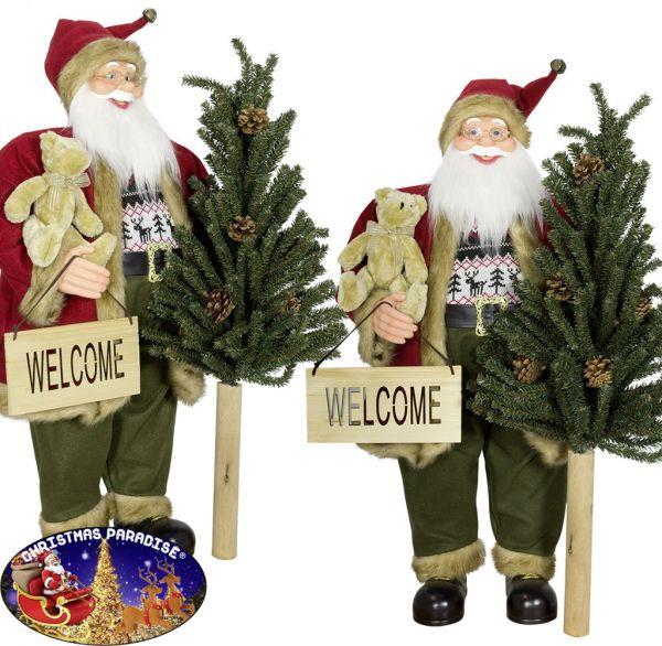 Weihnachtsmann 60cm mit Baum