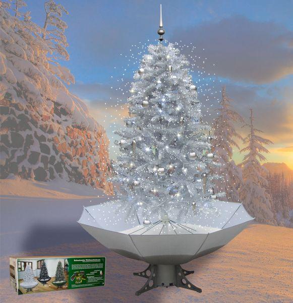 Schneiender Weihnachtsbaum 200cm silber