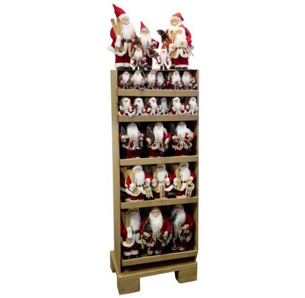 Santas im Display