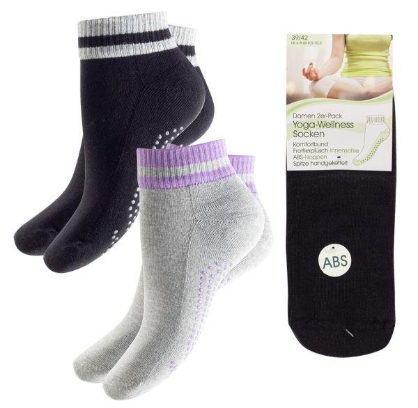 Yoga-Wellness Socken Damen 2er Pack