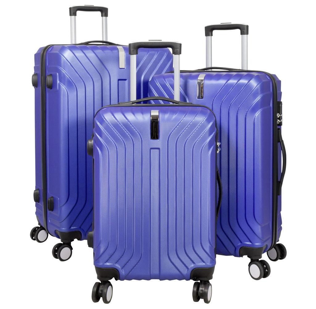 ABS-Kofferset 3tlg Palma blau