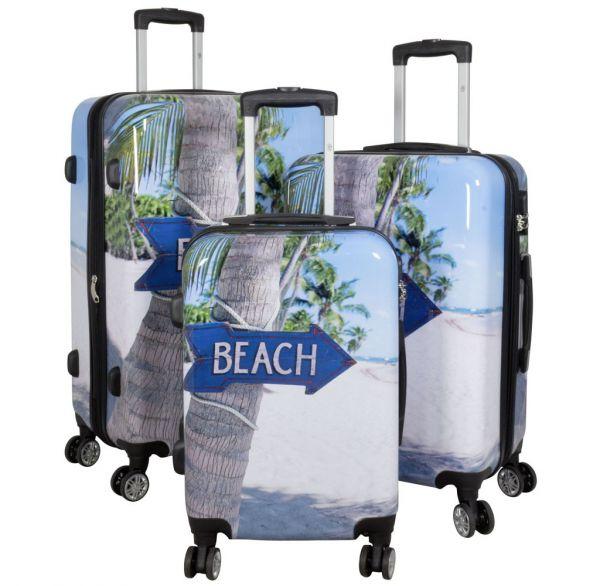 Polycarbonat Kofferset 3tlg Beach