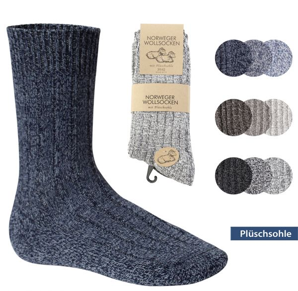 Norweger Wollsocken Herren 3er Pack