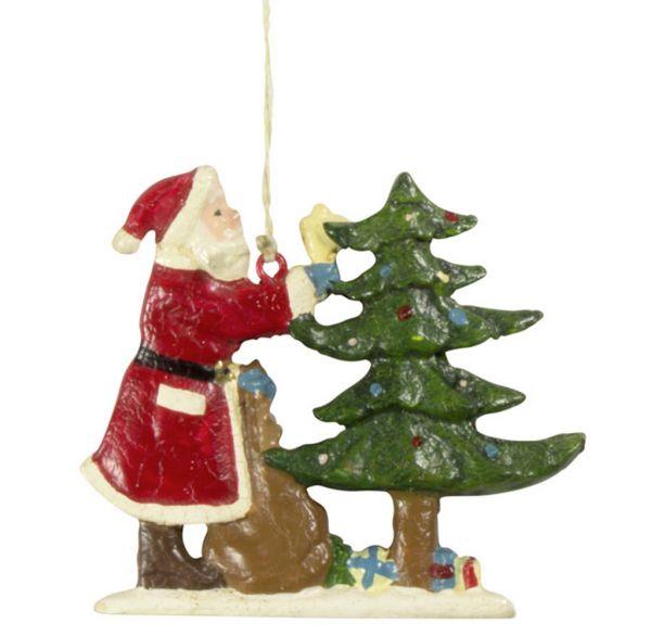 Baumschmuck Santa 8cm