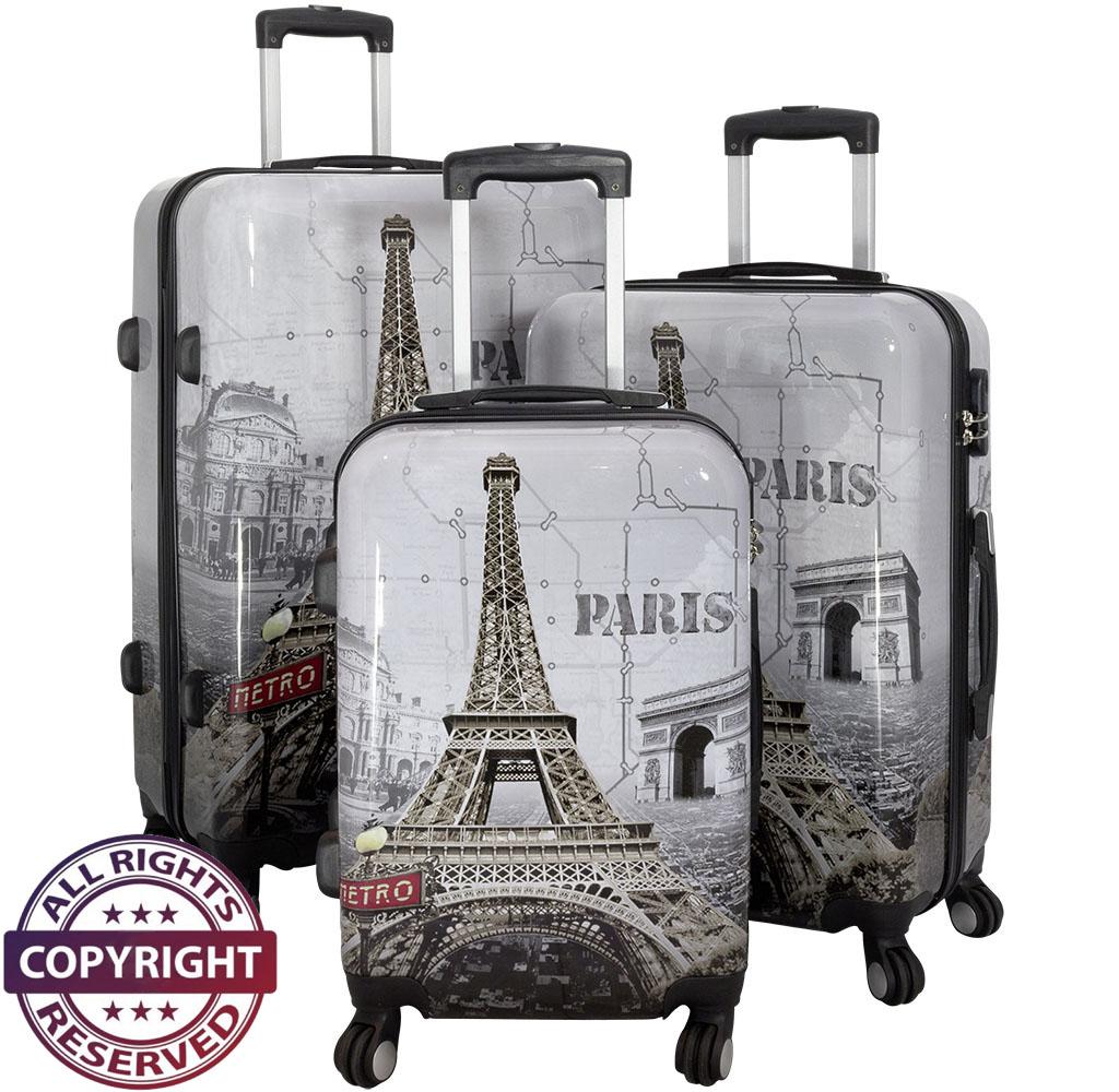 Polycarbonat-Kofferset 3tlg Paris II