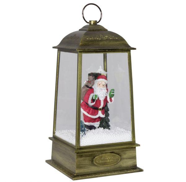 Schneiende LED Laterne Motiv Santa