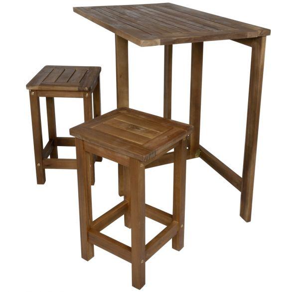 Balkonmöbelset 3tlg aus Holz