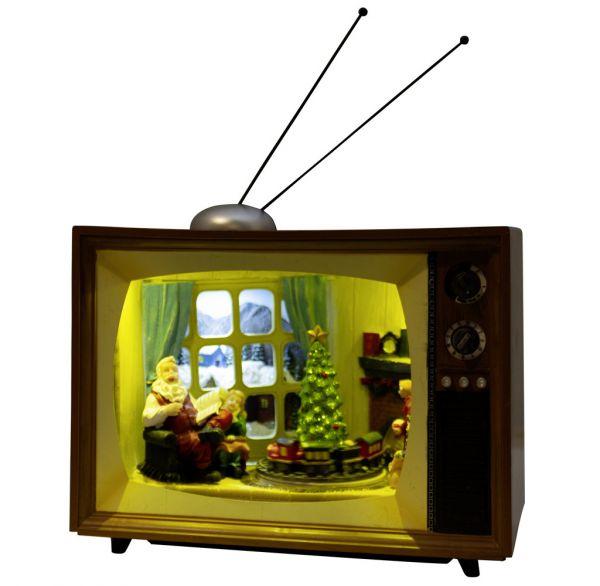 Animierte Weihnachtsszenen Fernseher mit Musik & LED