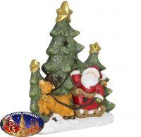 Outdoor Weihnachtsdeko Baum+Santa 48cm