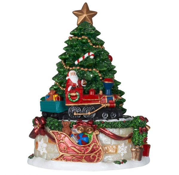 Mechanische Spieluhr Weihnachtsbaum Lok 17cm