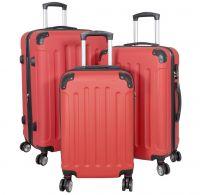 ABS-Kofferset 3tlg Avalon II pastell-rot