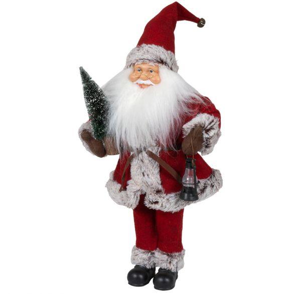 Animierter Santa 45cm mit Spieluhr