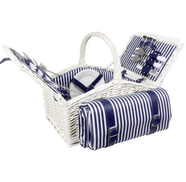 Picknickkorb-Set 25tlg mit Decke