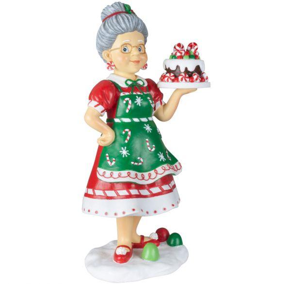 Tischdeko Weihnachtsfrau 27cm