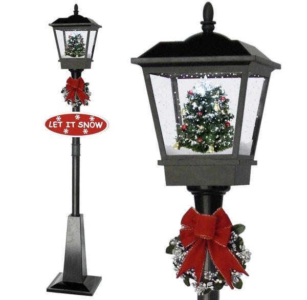 Schneiende LED Laterne 180cm Motiv Baum