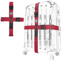 Kreuz-Koffergurt 2-Wege rot