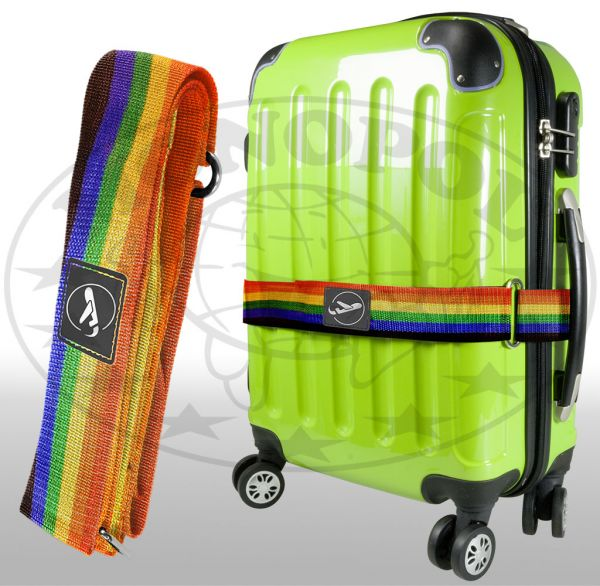 Koffergurt mit Klettverschluss Regenbogen